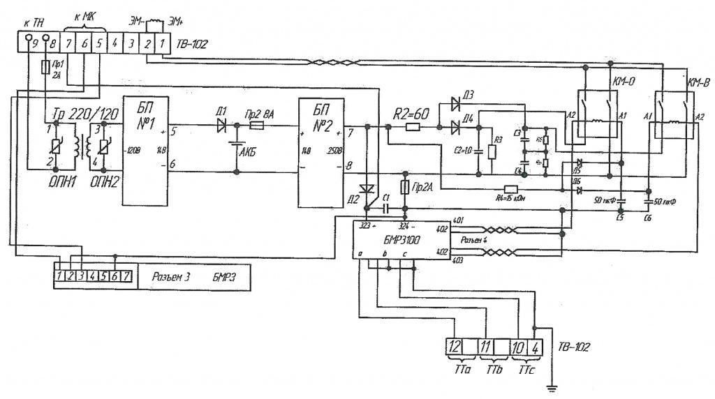 Схема подключения кабеля к ШУ